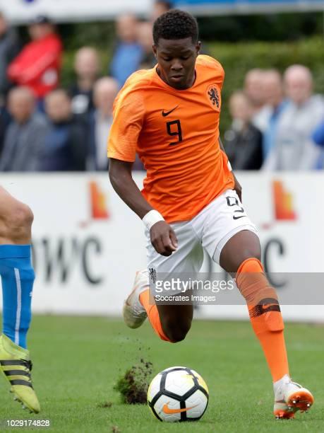 Daishawn Redan of Holland U19 during the match between Holland U19 v Czech Republic U19 at the Sportpark Parkzicht on September 8 2018 in Uden...