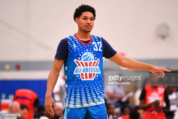 Daishen Nix from Trinity High School looks on during the Pangos AllAmerican Camp on June 2 2019 at Cerritos College in Norwalk CA