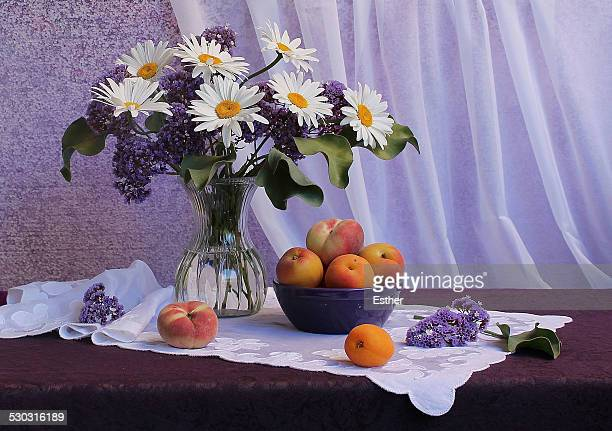 Daisies, Lilac and Peaches