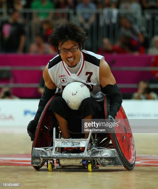Daisuke Ikezaki of Japan in action during the Bronze Medal match of Mixed Wheelchair Rugby against the United States on day 11 of the London 2012...