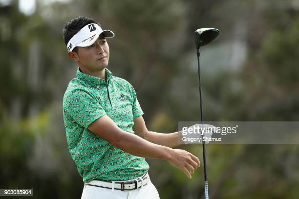 Daisuke Kataoka of Japan plays a shot during practice rounds prior to the Sony Open In Hawaii at Waialae Country Club on January 9 2018 in Honolulu...