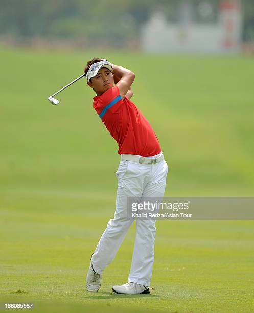 Daisuke Kataoka of Japan plays a shot during round four of the Indonesian Masters at Royale Jakarta Golf Club on May 5 2013 in Jakarta Indonesia
