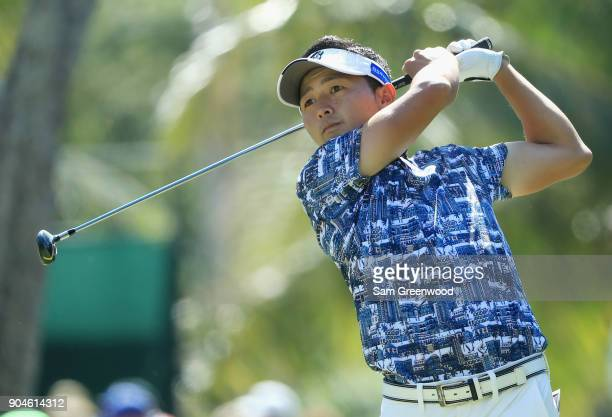 Daisuke Kataoka of Japan plays his shot from the fourth tee during round three of the Sony Open In Hawaii at Waialae Country Club on January 13 2018...
