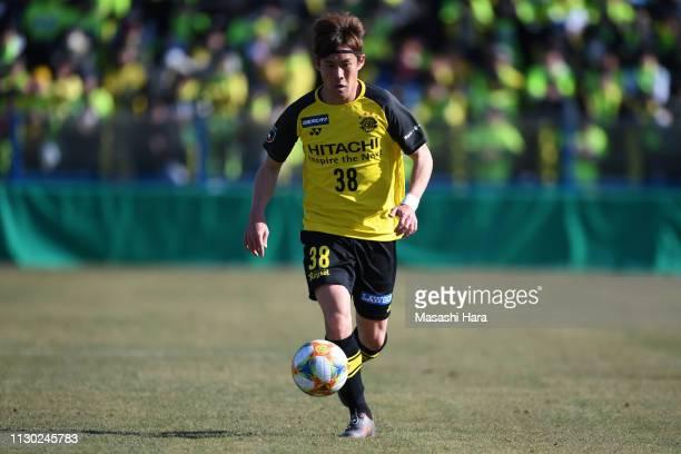 Daisuke Kikuchi of Kashiwa Reysol in action during the preseason friendly match between Kashiwa Reysol and JEF United Chiba at Sankyo Frontier...