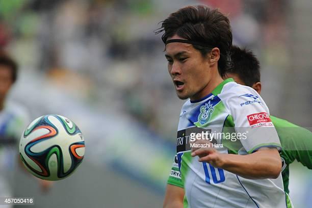Daisuke Kikuchi of Shonan Bellmare in action during the J.League second division match between Tokyo Verdy and Shonan Bellmare at Ajinomoto Stadium...