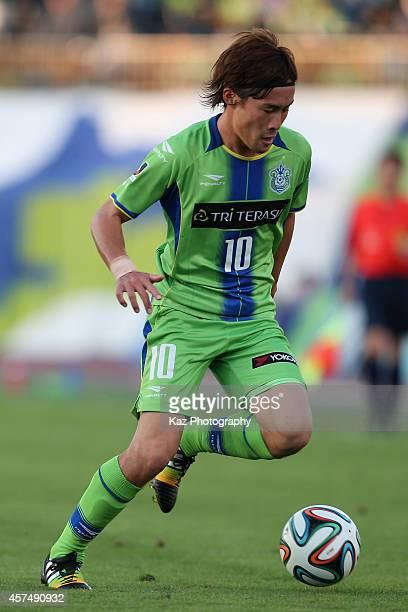 Daisuke Kikuchi of Shonan Bellmare in action during the J.League second division match between Shonan Bellmare and V-Varen Nagasaki at BMW Stadium...
