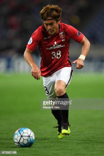Daisuke Kikuchi of Urawa Red Diamonds in action during the AFC Champions League Group F match between Urawa Red Diamonds and Western Sydney at...