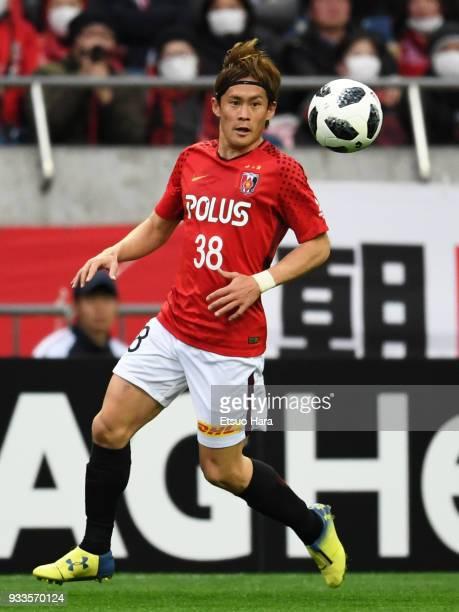 Daisuke Kikuchi of Urawa Red Diamonds in action during the J.League J1 match between Urawa Red Diamonds and Yokohama F.Marinos at Saitama Stadium on...