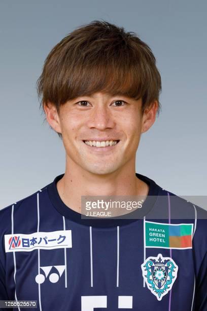 Daisuke Kikuchi poses for photographs during the Avispa Fukuoka portrait session on January 28, 2020 in Japan.