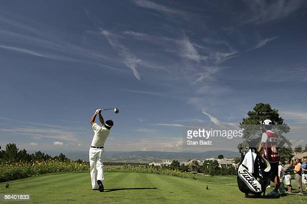 Daisuke Maruyama during the fourth and final round of The INTERNATIONAL held at Castle Pines Golf Club in Castle Rock Colorado on August 13 2006