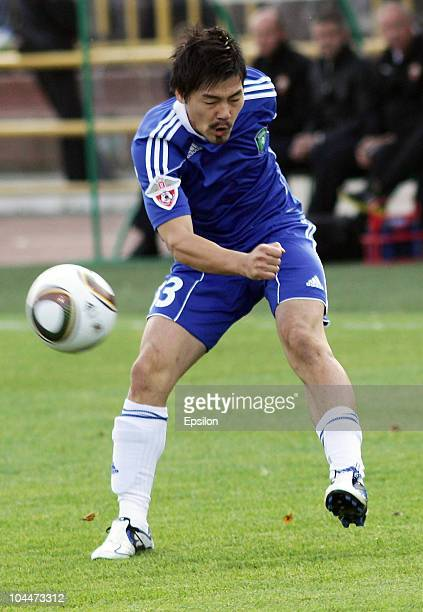 Daisuke Matsui of FC Tom, Tomsk in action during the Russian Football League Championship match between FC Tom, Tomsk and PFC CSKA Moscow on...
