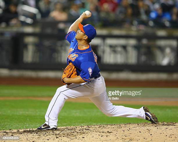 Daisuke Matsuzaka of the New York Mets pitches in the fifth inning against the Philadelphia Phillies during their game on May 9 2014 at Citi Field in...
