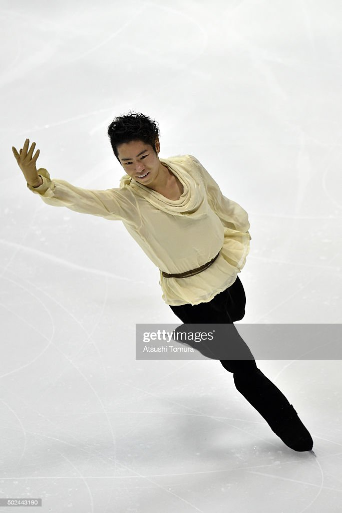 Daisuke Murakami of Japan competes in the Men short program during the day one of the 2015 Japan Figure Skating Championships at the Makomanai Ice Arena on December 25, 2015 in Sapporo, Japan.