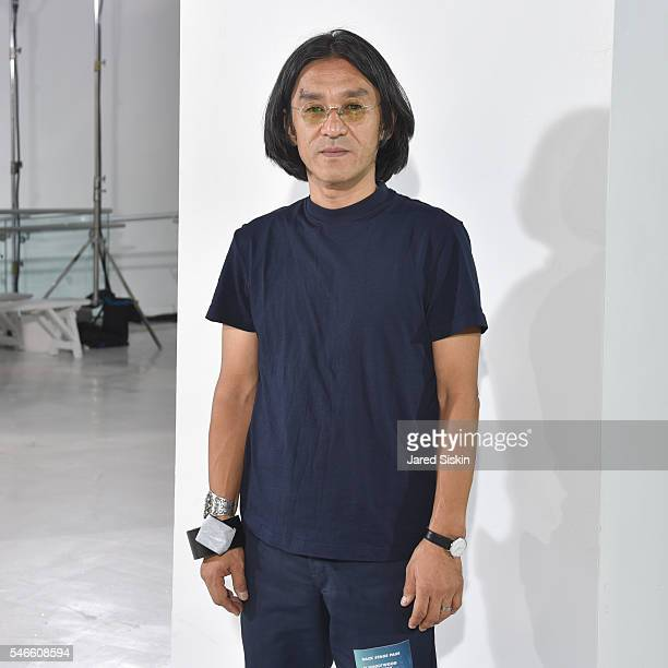 Daisuke Obana attends the N. Hoolywood runway show during New York Fashion Week: Men's S/S 2017 at Hudson Mercantile on July 12, 2016 in New York...