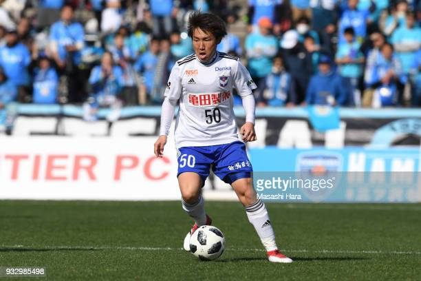 Daisuke Sakai of Albirex Niigata in action during the JLeague J2 match between Yokohama FC and Albirex Niigata at Nippatsu Mitsuzawa Stadium on March...