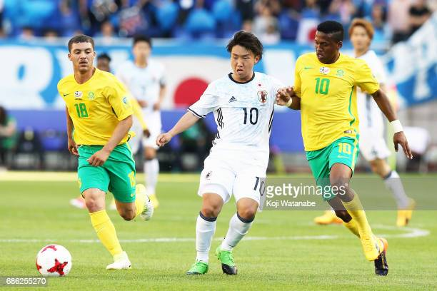 Daisuke Sakai of Japan in action during the FIFA U20 World Cup SKorea Republic 2017 group D match between South Africa and Japan at Suwon World Cup...
