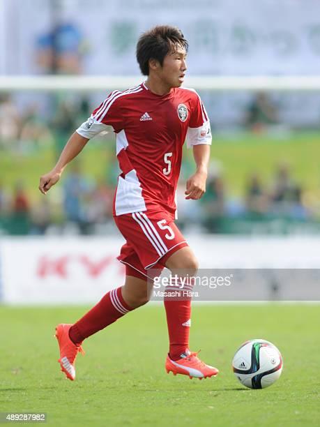Daisuke Sakai of JLeague U22 selection in action during the JLeague 3rd division match between SC Sagamihara and JLeague U22 Selection at Sagamihara...