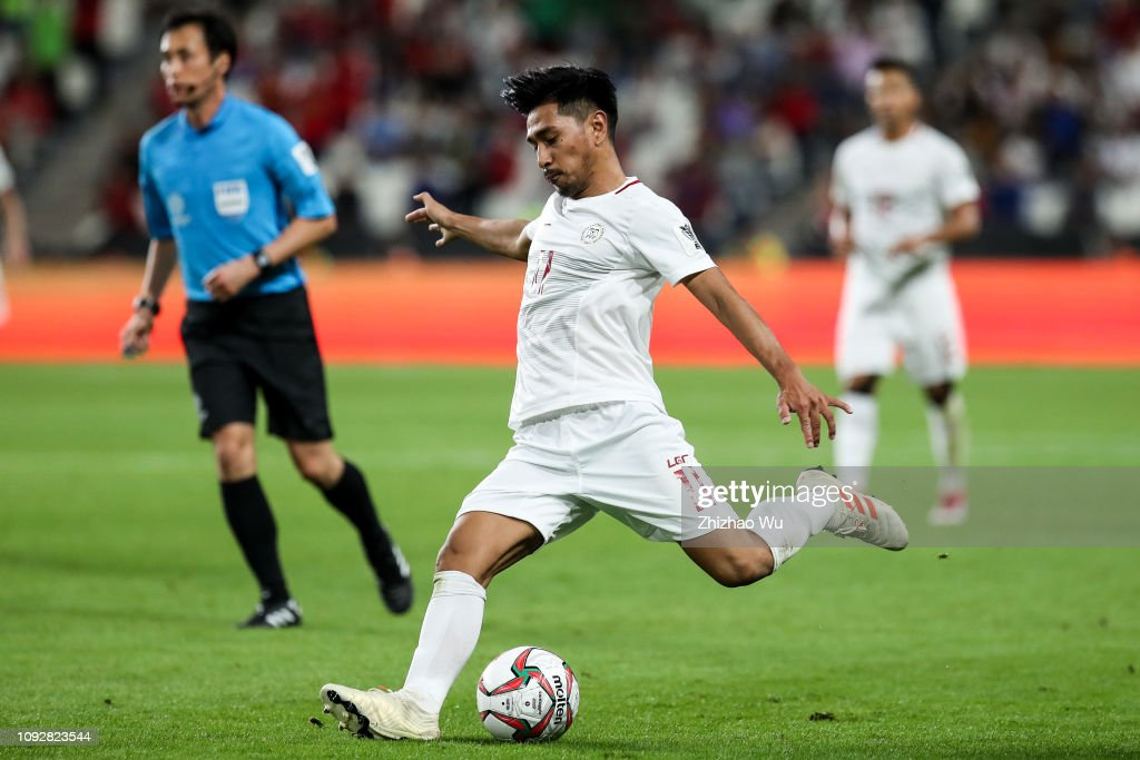 Daisuke Sato of Philippines controls the ball during the AFC Asian... News  Photo - Getty Images