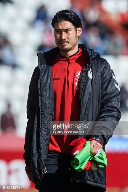 Daisuke Suzuki of Nastic looks on prior to the La Liga 123 match between Albacete Balompie and Nastic at Estadio Carlos Belmonte on February 11 2018...