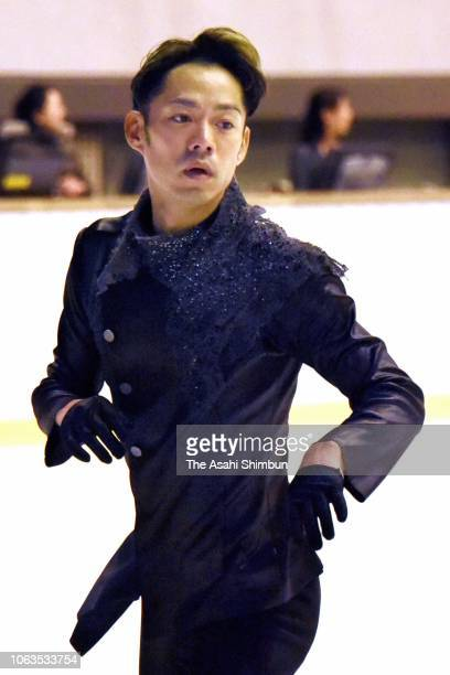 Daisuke Takahashi competes in the Men's Singles Free Skating on day three of the Figure Skating Western Japan Championships at Nippon Gaishi Arena on...