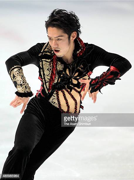 Daisuke Takahashi competes in the Men's Singles Short Program during day one of the Japan Figure Skating Championships 2009 at Namihaya Dome on...