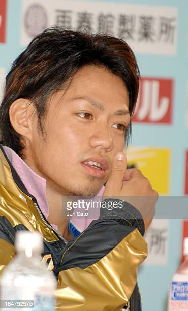 Daisuke Takahashi during the Press Conference of Japan International Challenge figure skating cup competition
