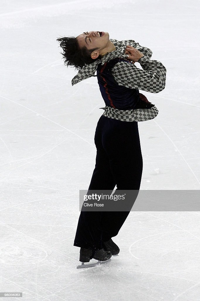 Daisuke Takahashi of Japan competes during the Men's Free Skate during the 2010 ISU World Figure Skating Championships on March 25, 2010 at the Palevela in Turin, Italy.