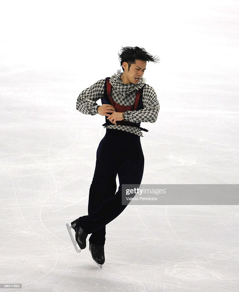 Daisuke Takahashi of Japan competes in the Men Free Skating during the 2010 ISU World Figure Skating Championships on March 25, 2010 in Turin, Italy.
