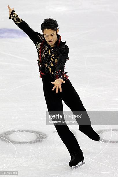 Daisuke Takahashi of Japan competes in the men's figure skating short program on day 5 of the Vancouver 2010 Winter Olympics at the Pacific Coliseum...
