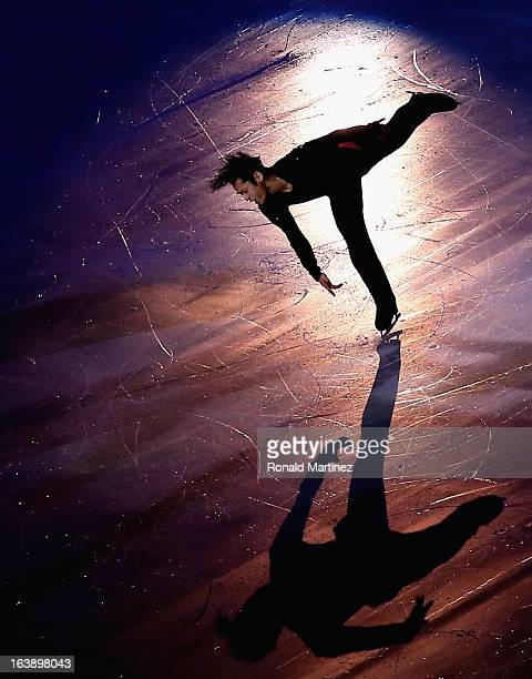 Daisuke Takahashi of Japan performs during the ISU World Figure Skating Championships 2013 Exhibition Gala at Budweiser Gardens on March 17, 2013 in...