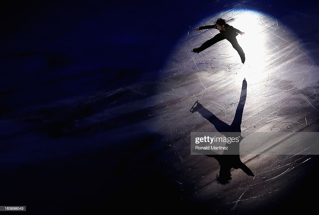 Daisuke Takahashi of Japan performs during the ISU World Figure Skating Championships 2013 Exhibition Gala at Budweiser Gardens on March 17, 2013 in London, Canada.