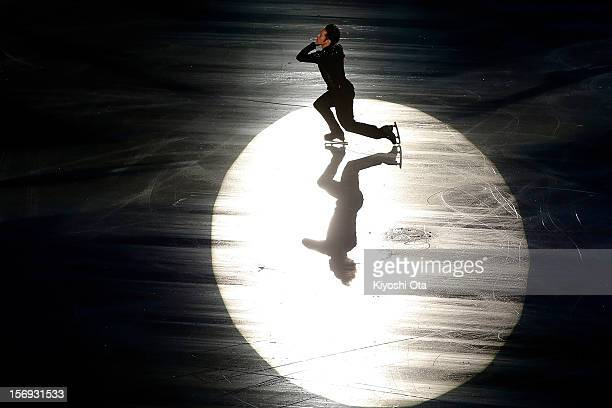 Daisuke Takahashi of Japan performs in the Gala Exhibition during day three of the ISU Grand Prix of Figure Skating NHK Trophy at Sekisui Heim Super...