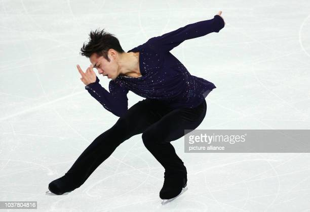 Daisuke Takahashi of Japan performs in the Men's Free Skating of the Figure Skating event at the Iceberg Palace during the Sochi 2014 Olympic Games...