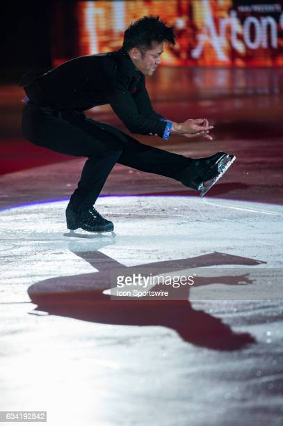 Daisuke Takahashi performs his routine during the Art on Ice show on February 7 at Malley Arena in Lausanne Switzerland
