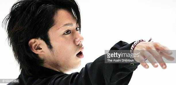 Daisuke Takahashi performs in the gala exhibition during day three of the 74th All Japan Figure Skating Championships at the Yoyogi National...