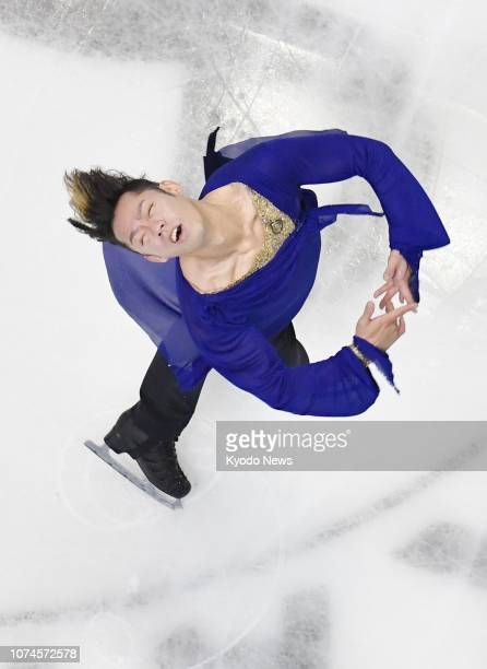 Daisuke Takahashi performs in the men's short program at the national figure skating championships in Kadoma Osaka Prefecture on Dec 22 2018 ==Kyodo