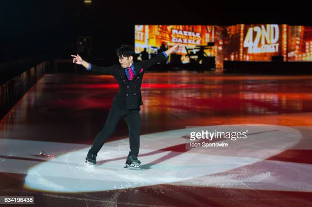 Daisuke Takahashi skates during the Art on Ice show on February 7 at Malley Arena in Lausanne Switzerland