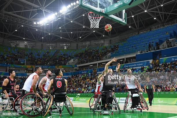 Daisuke Tsuchiko of Japan competes in the Men's Wheelchair Basketball group A preliminary between Turkey and Japan during the Rio 2016 Paralympic...