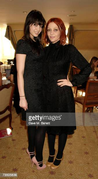 Daisy and Pearl Lowe attend the DoorOnecouk Pamper Party hosted by Pearl and Daisy Lowe at Claridges on March 6 2007 in London England