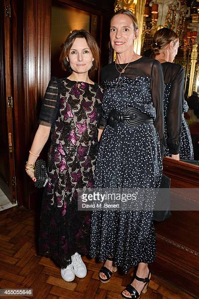 Daisy Bates and Tiphaine de Lussy attend 'The Gentlewoman' issue launch party at the Oscar Wilde Bar at The Club at Hotel Cafe Royal on September 9...