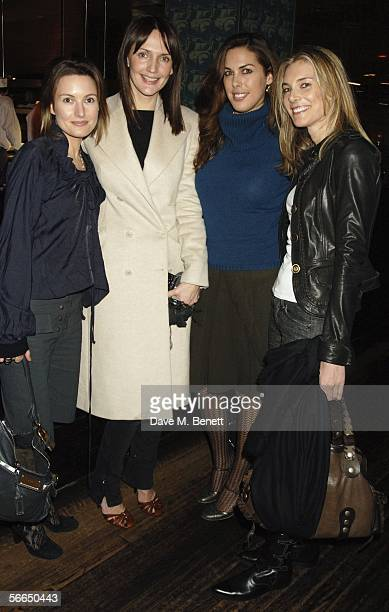 Daisy Bates Saffron Aldridge Jessica de Rothschild and Kim Herzog attend the Miuccia Prada hosted after party following the Prada Foundation and Tate...