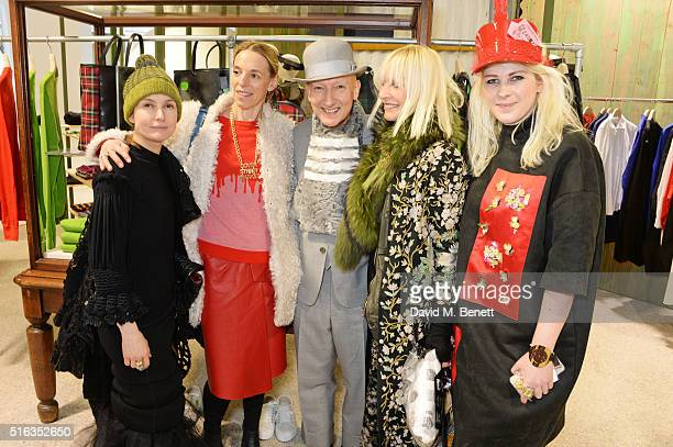 Daisy Bates, Tiphaine de Lussy, Stephen Jones, Virginia Bates and Annika Lievesley attend an exclusive VIP preview of the Dover Street Market on...