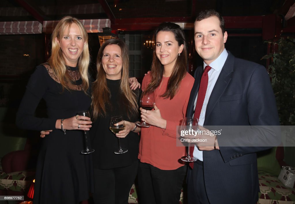 Daisy Bell (L) and guests attend the Glass Half Full party at Mark's Club on March 23, 2017 in London, United Kingdom.