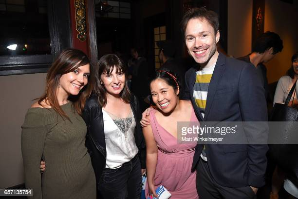 Daisy Berkshire Cassandra Morris Stephanie Sheh and Michael Sinterniklaas attend Funimation Films presents 'Your Name' Theatrical Premiere in Los...