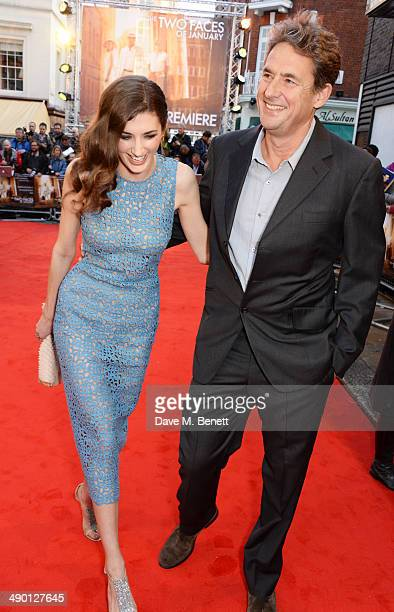 Daisy Bevan and father Tim Bevan attend the UK Premiere of The Two Faces Of January at The Curzon Mayfair on May 13 2014 in London England