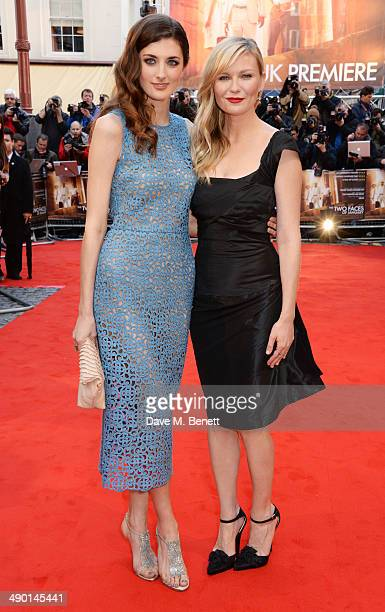 Daisy Bevan and Kirsten Dunst attend the UK Premiere of 'The Two Faces Of January' at The Curzon Mayfair on May 13 2014 in London England