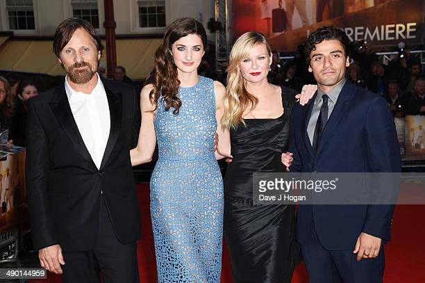 Daisy Bevan Kirsten Dunst Oscar Issac and Viggo Mortensen attend the UK premiere of 'The Two Faces Of January' at The Curzon Mayfair on May 13 2014...