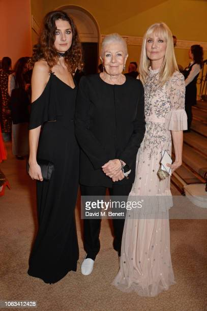 Daisy Bevan Vanessa Redgrave and Joely Richardson attend The 64th Evening Standard Theatre Awards at the Theatre Royal Drury Lane on November 18 2018...