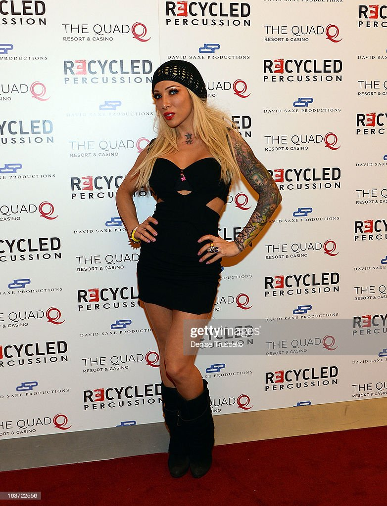 RECYCLED PERCUSSION VIP Opening Night And Red Carpet At The Quad Resort & Casino : News Photo