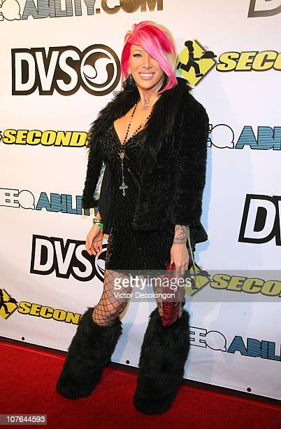 Daisy De La Hoya arrives for Creative Collision Big Time Rush Benefit For Seconds Hunger Relief on December 16 2010 in Los Angeles California